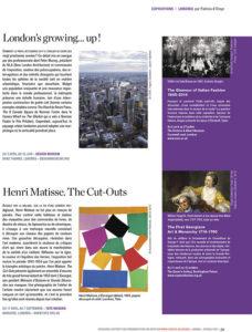 L'éventail Magazine Agenda Culturel Londres Avril 2014