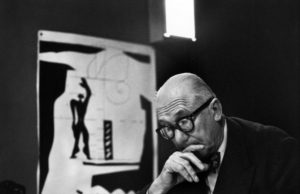 Rene Burri the painter Corbusier
